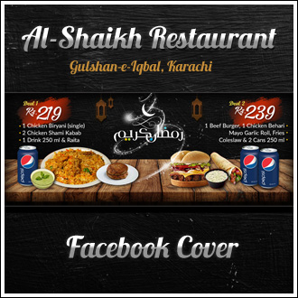 Facebook Cover: Al-Shaikh Restaurant
