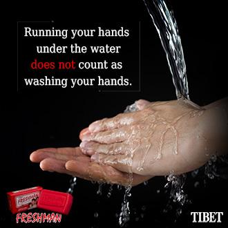 Running Hands Under Water